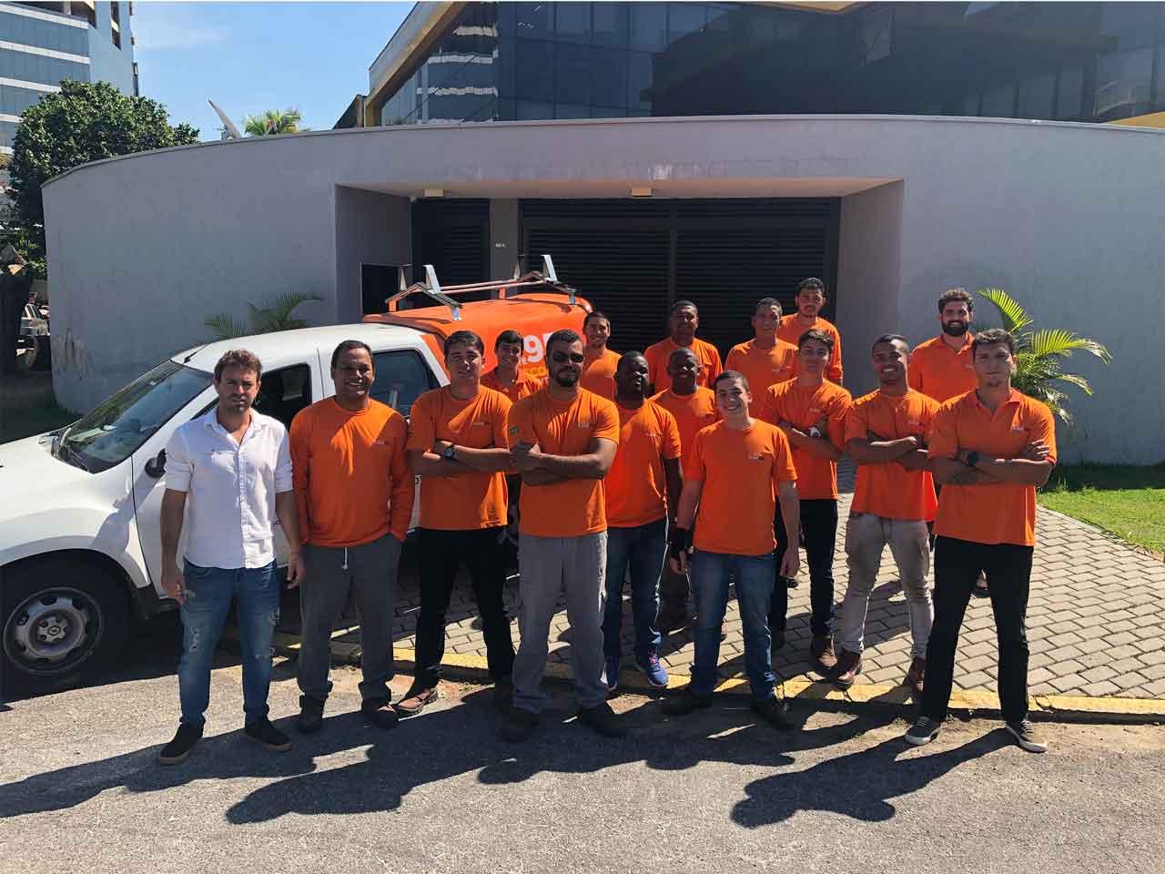 Equipe de instalação SolarOn
